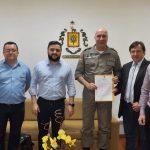 Em agenda na Capital, prefeito Mauricio Muniz pede efetivo policial fixo ao comando da BM